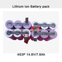 Military equipment 7800mAh 14.8V rechargeable lithium ion battery customized li-ion battery packs