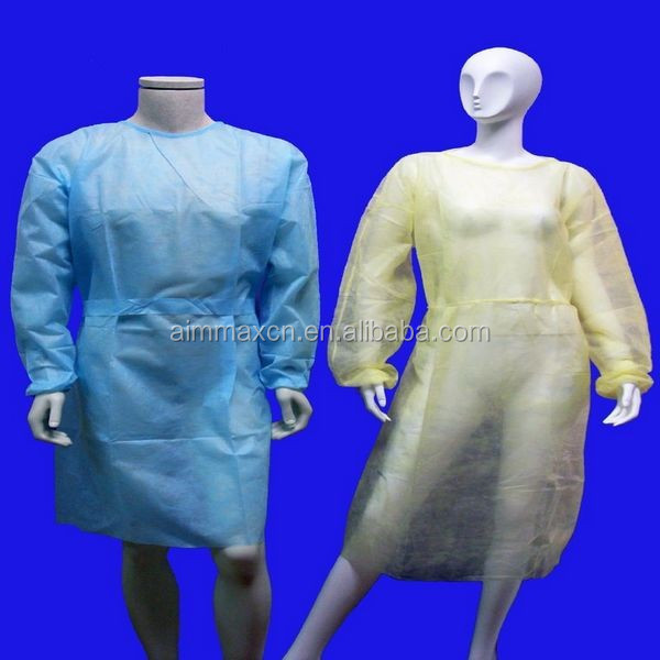 Dark green/blue sterile/non-sterile new hospital gown