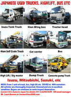 Japanese made Trucks, Buses, Carriers, Tractor heads