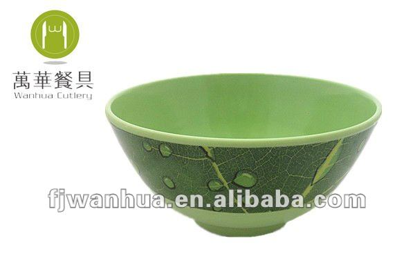 Melamine green chinese rice bowls