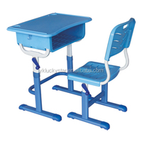 Hand movements Plastic Single School Desk and Chair/furniture school/kids table and chair