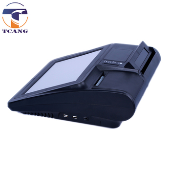 Tcang 12 inch Touch Screen All in One Windows POS with 58mm or 80mm thermal printer intergrated