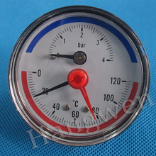 Water pump temperature pressure gauge with set pointer