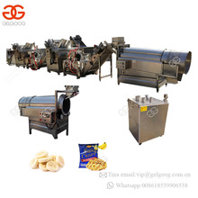 Small Scale Automatic Yam Slices Making Fruit Plantain Banana Crisps Processing Machine Potato Chips Production Line