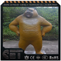 Fiberglass christmas decoration statues bear sculptures