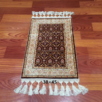 red small silk rugs handwoven plain style mosque prayer rugs carpet for prayer room