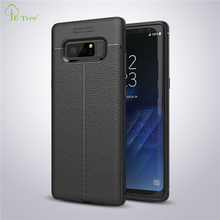 business stitching shockproof litchi leather pattern soft TPU case for Samsung Galaxy Note 8