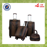 Alibaba China Travel Bag Cheap Cute 360-Degree Wheels Luggage PU Leather Rolling Luggage