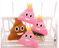 For Girls Lovely Gift Pink Emoticon Plush Poop Emoji Pillow For Cheap Wholesale