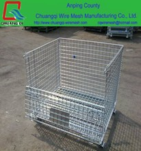 Wire Mesh Containers, mesh container, Wire Container for Industrial Warehouse Storage Foldable