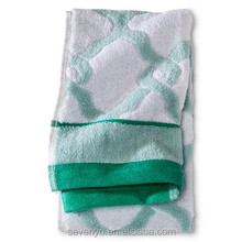 Lattice Bath Towels - Batik Green/True White bt-018