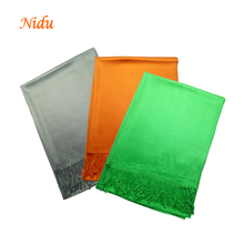 China Factory Soft Cashmere Feel Viscose Pashmina Scarf for Women