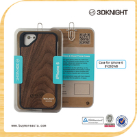 High quanlity custom real wooden phone cases, cover for iphone 5,5s,6, 6s Fashion Triangle Eye Wood Bamboo Case