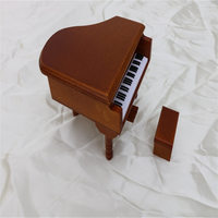 Wooden Christmas Hand Rotating Music Box Girl Playing The Piano Christmas Gifts Home Decorations Child Craft Toys