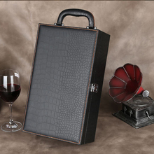 Hot selling christmas wine bottle box leather champagne carrier