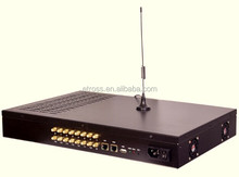 128 SIMs 16 ports GSM VoIP Gateway ETS-16x8G ( multi-SIM rotation, Human behaviour, BTS rotation))