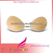 Sexy silicone bra with glue with lace cover hot sell silicone bra