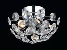 Iron pendant lighting crystal ceiling hanging lamps for living room and hotel