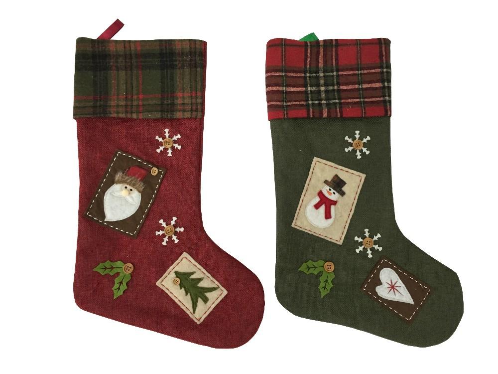 Felt Wholesale Christmas Stocking For 2016 Home Decoration