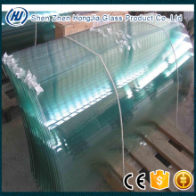 Jumbo size glass Curved tempered glass for building glass