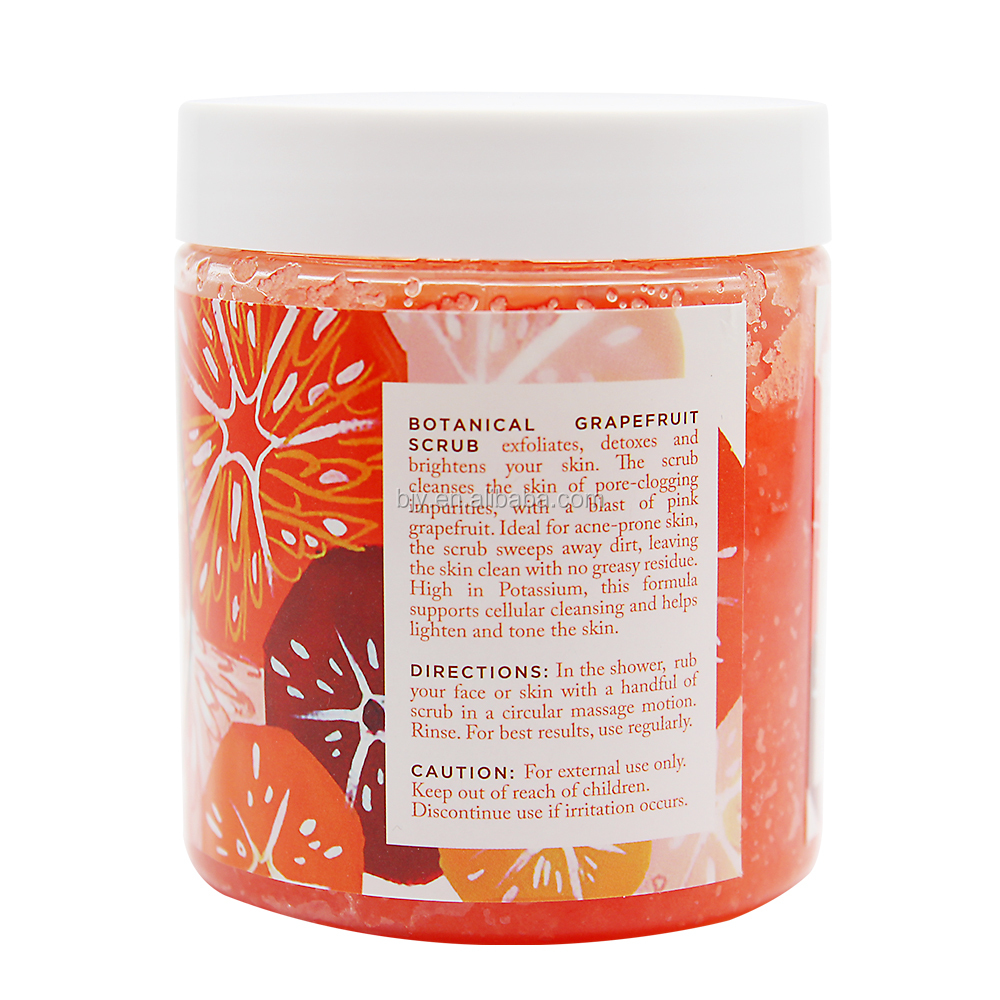 New Product Medical Organic 100% Natural Private Label Grapefruit Skin Facial Body Scrub Cream