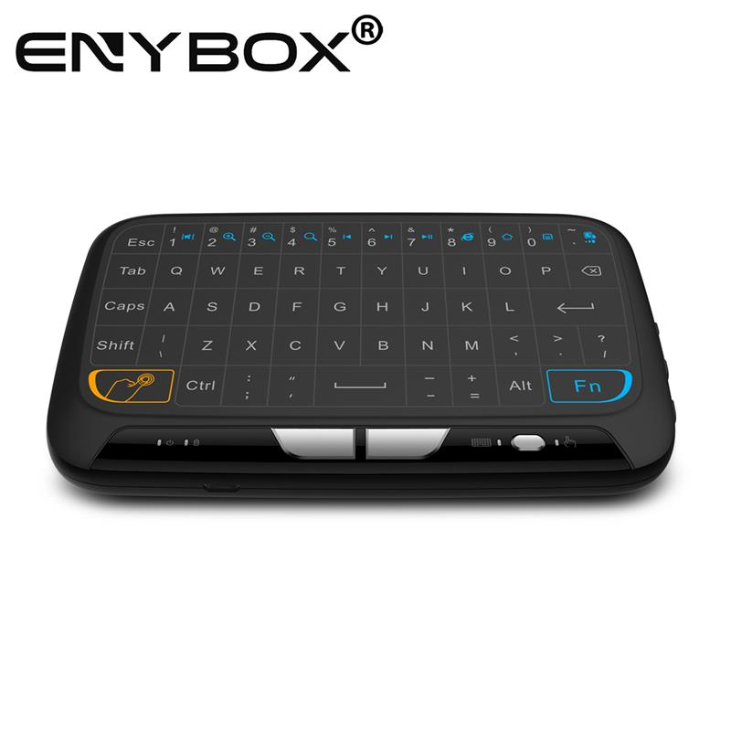 vibration touch sense feedback 18 2.4ghz wireless ott tv box mini keyboard with hotkeys