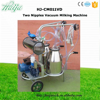 CE approved two nipples automatic cow milking machine