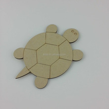 Sea Turtle Unfinished Wood Shape Craft Supply Laser Cut Out wood toy