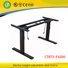Australia and Canada Sit-or-Stand Electric Lifting Laptop Computer Desk Frame for Director