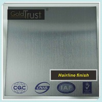 Hairline finish stainless steel sheet for Elevator and Kitchen wall panels