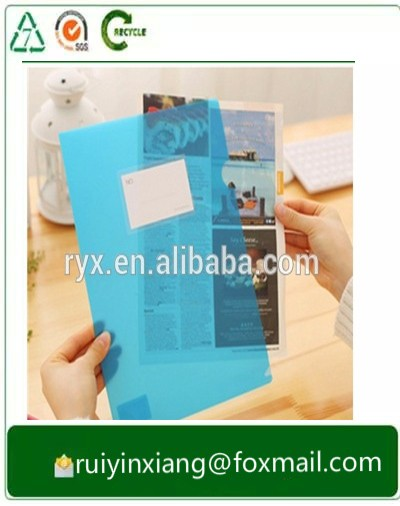 Offset uv printing A4 size 0.2mm plastic folio file RYX-0913