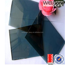 Solar control reflective glass sheet with CCC