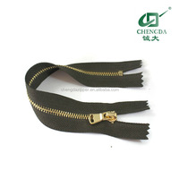 metal wholesale zips for apprals