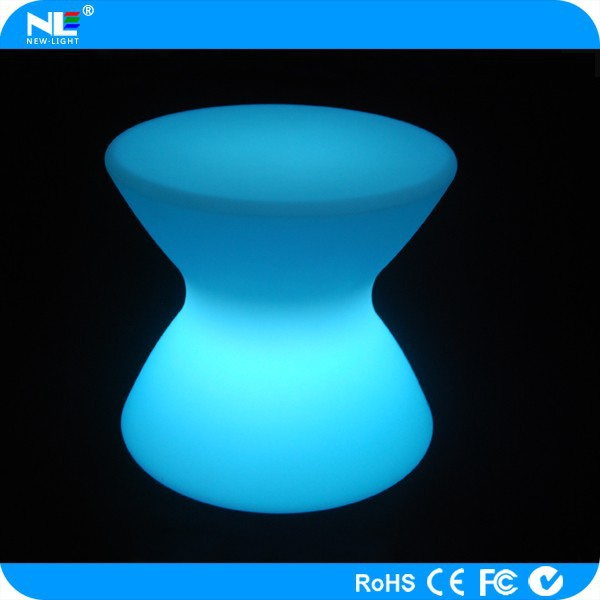 Party LED colorful glowing light tables and chairs / modern mini make LED lighted bar tables