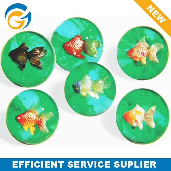Promotional Custom Logo Gold Fish Bouncing Ball for Kids