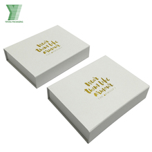High Quality packaging boxes custom logo, magnetic white cardboard box