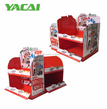 Retail cardboard counter top display unit for chocolate,corrugated counter display box
