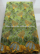 2012 Elegant Embroidery Cotton Fabric
