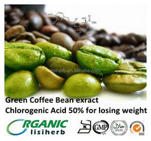100% natural Green Coffee Bean exract Chlorogenic Acid 50% for losing weight