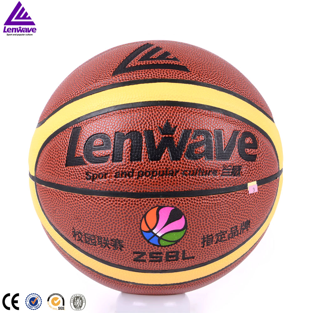 Lenwave brand name basketball ball for training genuine leather basketball