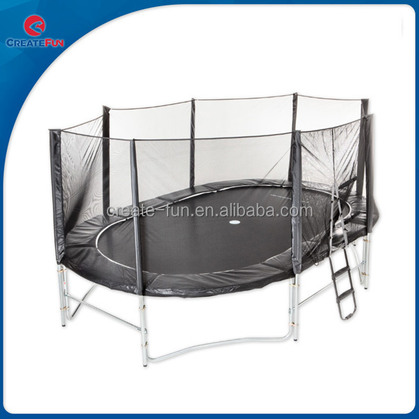 CreateFun 8FTx12FT Funny Kids Oval Trampoline Bed Games