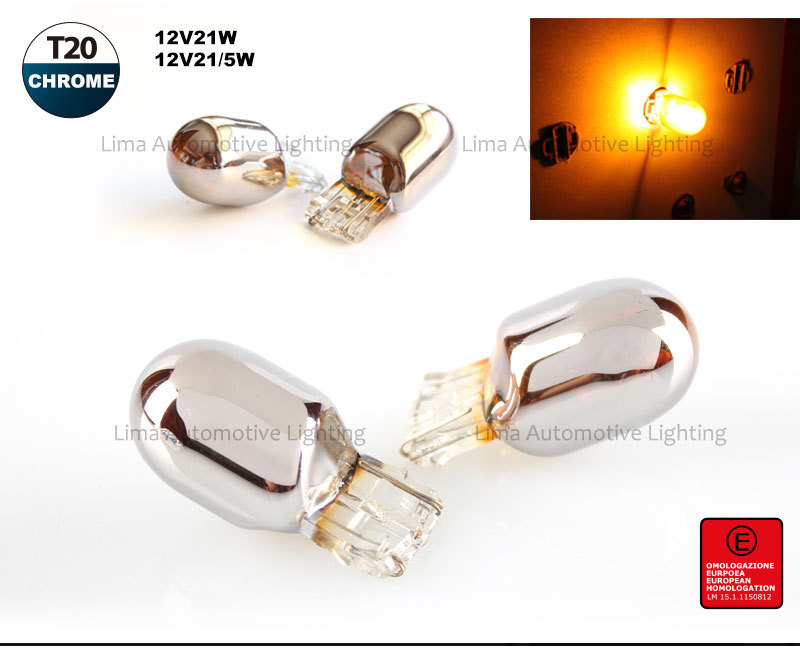 s25 P21W chrome bulb parking light tail lamp turn light car accossories