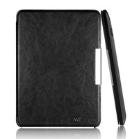 Ultra Slim Folio Pu Leather Magnetic Smart Case Cover for Kindle (2014 Version) with Black color