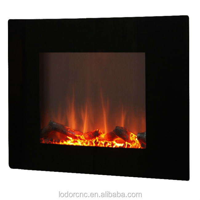 wall mounted led electric fireplace heater with backlight optional