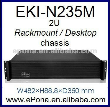 2U Compact Server Rackmount Chassis, industrial pc case EKI-N235M