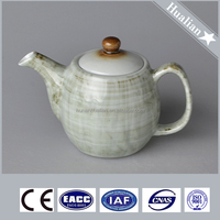Japanese style heat resisting ceramic teapot with lid