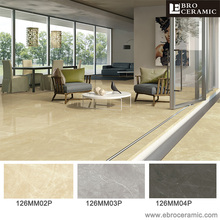 Foshan Wholesale golden color High gloss 600x1200 marble glazed polished porcelain floor tile 126MM02P