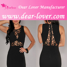 Black Lace Double Slits Sexy Evening Dress wholesale