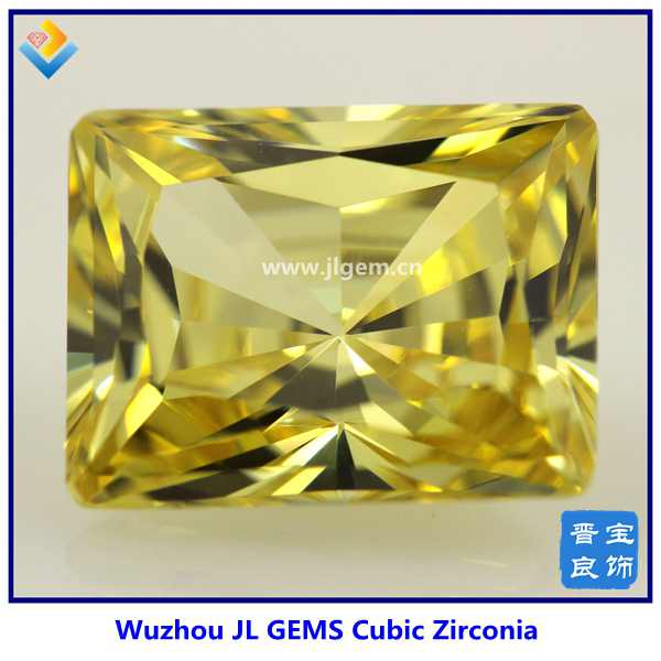 wholesale big rectangle champagne cubic zircon stone