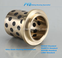 Flanged brass Self-lubricating Guide Bushing casting machine Oilless Guide Bush with collar